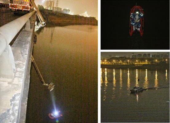 南宁检测桥梁发生事故三人坠江 多部门连夜搜救