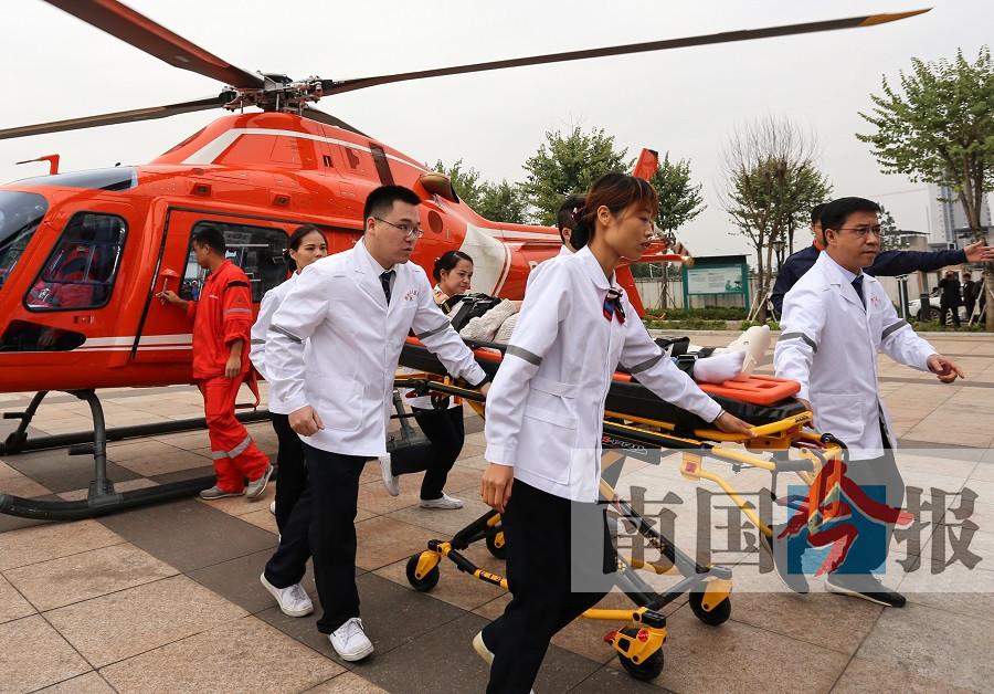 今后柳州及周边地区有患者需要可呼叫直升机进行救援