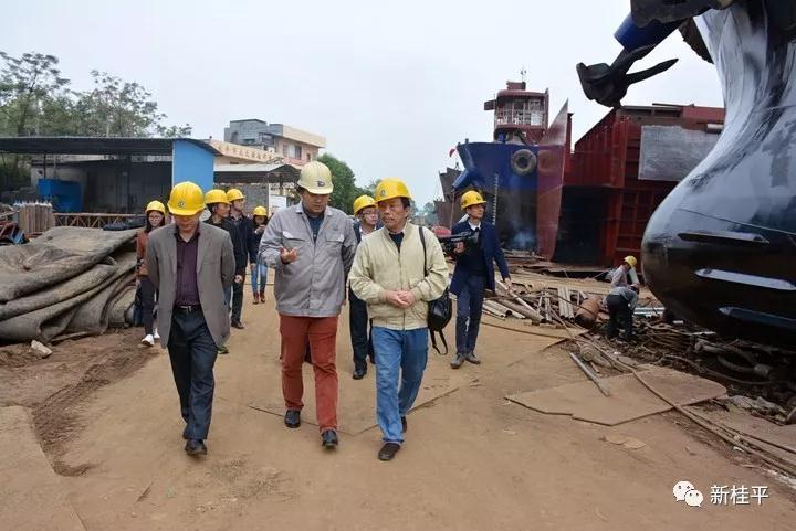 贵港市调研组到桂平市调研新兴产业拉动经济发展情况