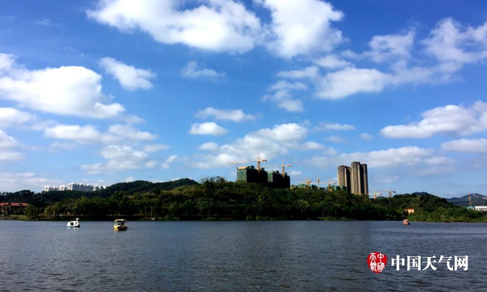 梧州市红豆社区_梧州周末天气晴朗 玫瑰湖公园美景呈现(组图)-广西新闻网
