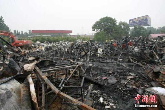 火灾现场。 <a target='_blank' href='http://www.chinanews.com/'></table>中新社</a>发 钟欣 摄