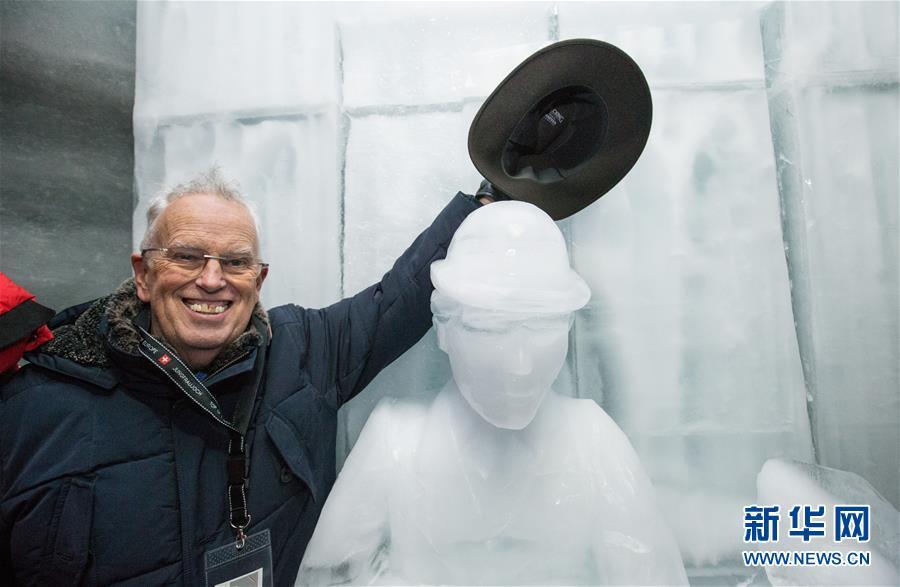 (国际)(1)瑞士少女峰:冰雕纪念卓别林