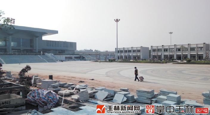 玉林火车站广场预计本月竣工投用