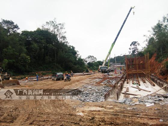 玉林至湛江高速公路(博白段)建设火速推进(图)