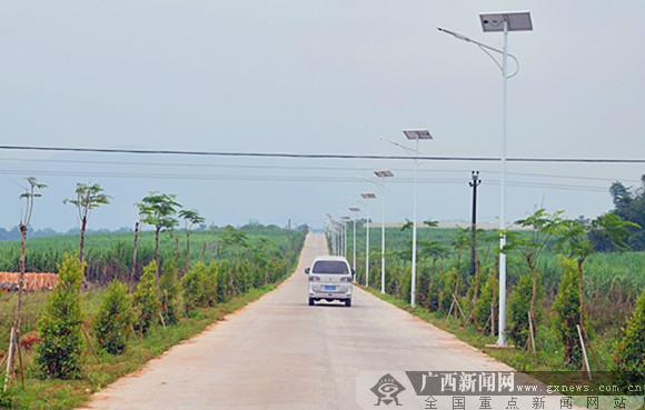 上思县农村扶贫道路建设显成效