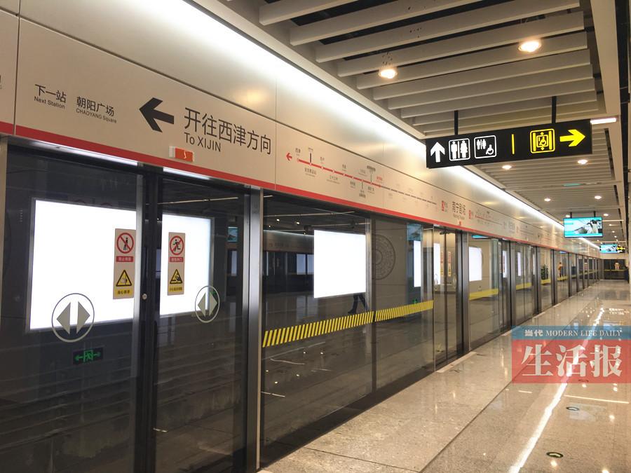 12月14日焦点图:南宁地铁2号线站点揭开面纱