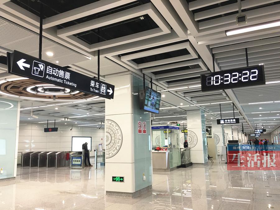 南宁地铁2号线站点揭面纱 壮族铜鼓元素贯穿全线