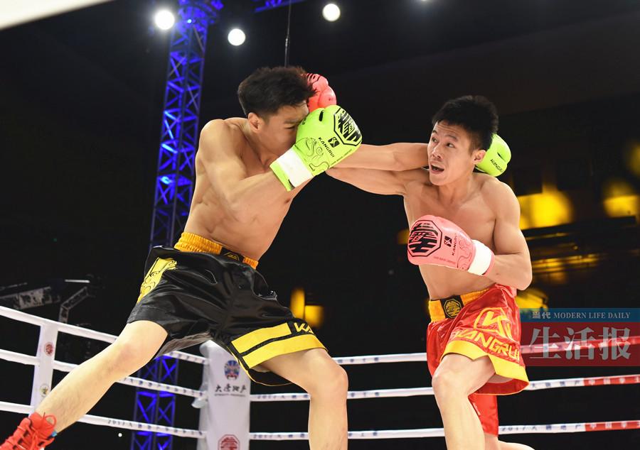 中国拳王赛南宁站诞生两位金腰带 广西选手展风采