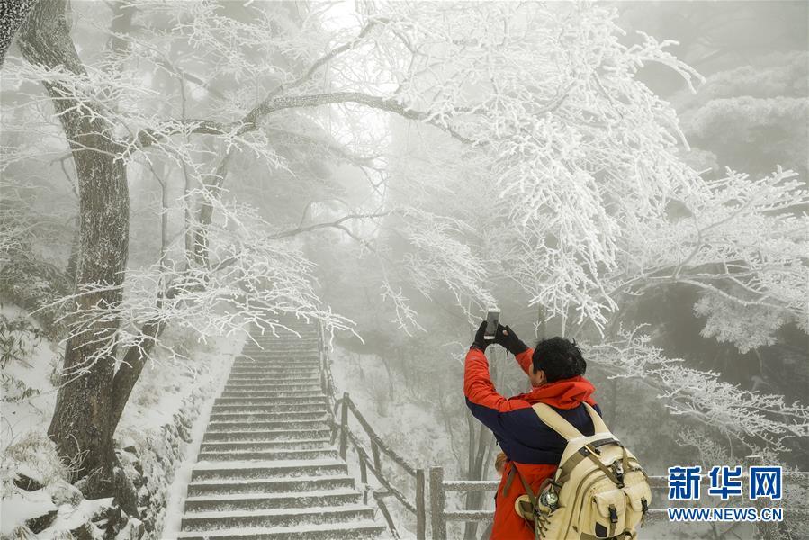 #(环境)(1)安徽黄山迎来今冬首场降雪