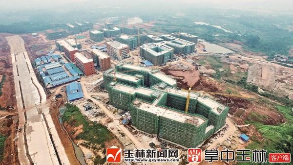 广西医科大学玉林校区 一期项目30幢建筑已封顶