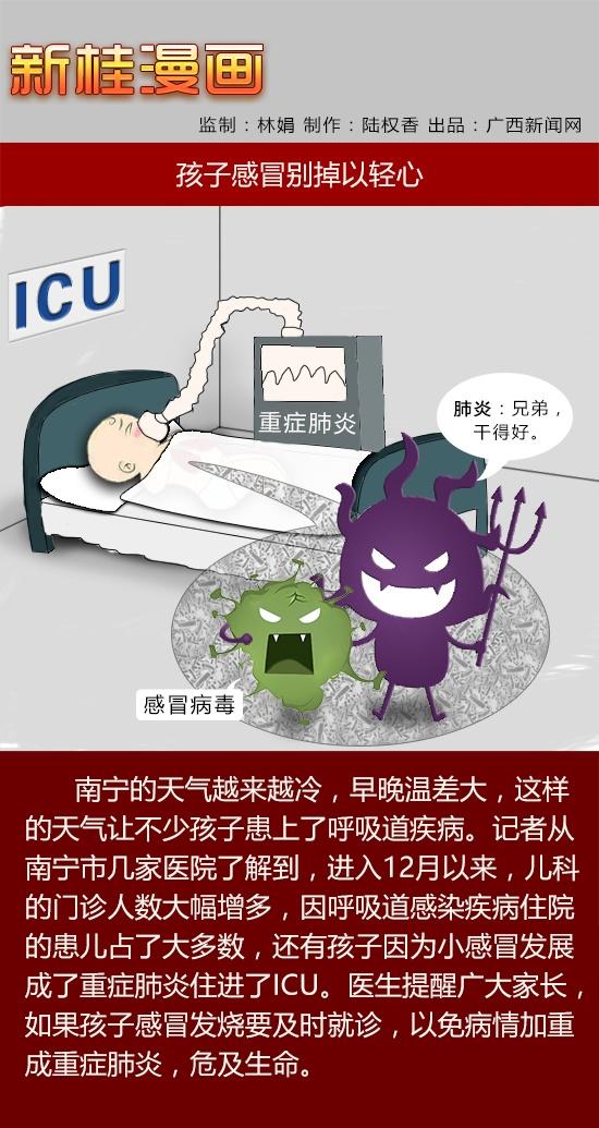 【新桂漫画】孩子感冒别掉以轻心