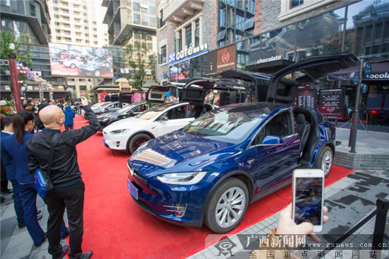 Tesla广西车友会揭牌在绿地中央广场举办