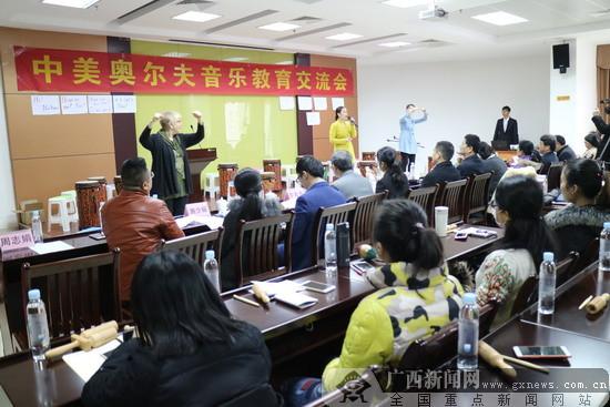 首届中美奥尔夫音乐交流会在南宁举行