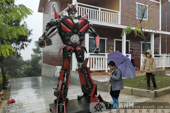 """南宁:市民受邀体验""""美丽南方""""圣名岭东盟文化旅游区"""
