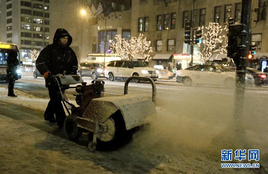 (国际)(1)芝加哥遭遇严寒天气