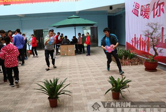 广西体育局江南训练基地团委开展2018年元旦游园会