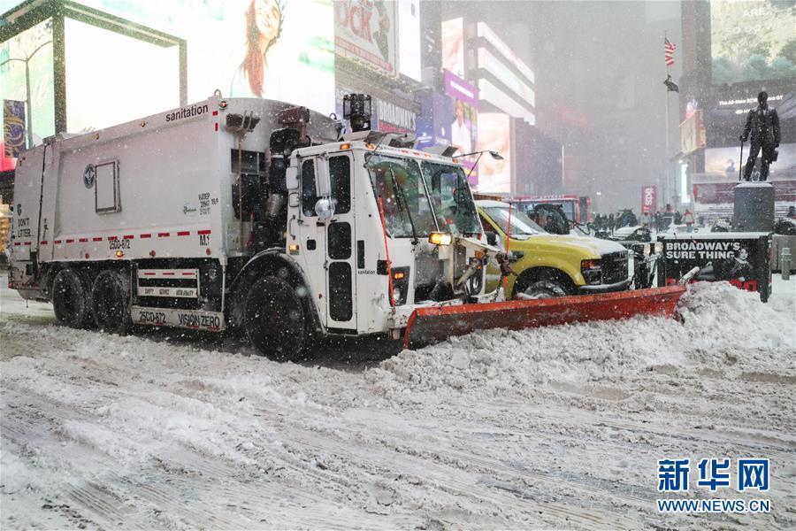 (国际)(4)美国纽约紧急应对罕见暴风雪