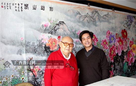 广西画家韦覃基画展侧记:牡丹花在一带一路上绽放