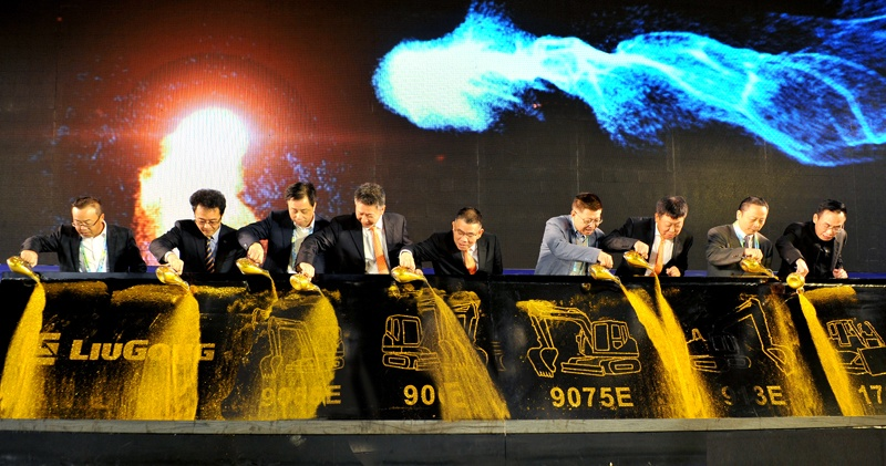 柳工挖掘机公司提前胜利实现全年超8000台的整机产量