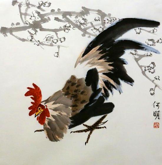 何明梅花中国画展暨学术研讨会在桂林举行