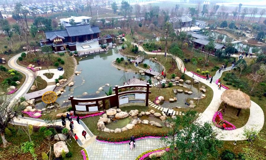 高清:第十一届广西园博会河池园突显长寿主题