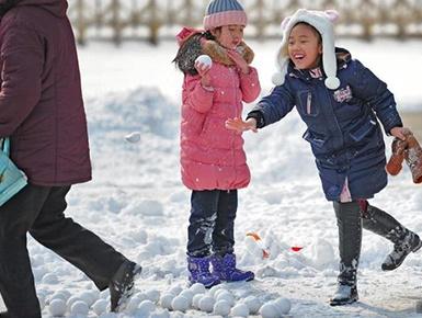 天津迎来2018年首次降雪