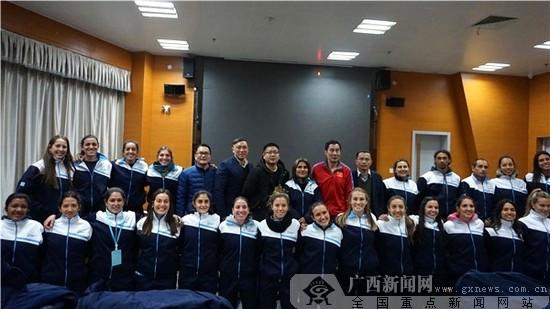 乌拉圭女子手球队赴柳州集训 预计为期25天