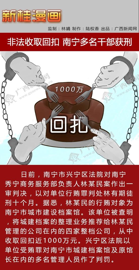 【新桂漫画】非法收取回扣 南宁多名干部获刑