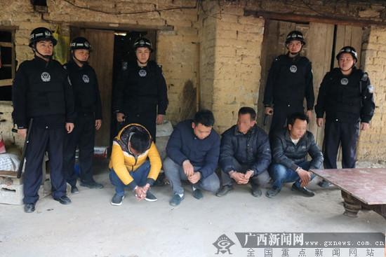 南宁警方严打严管捣毁赌博窝点 抓获25名涉赌人员