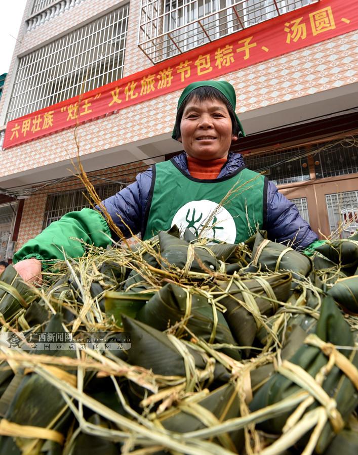 """河池:大街小巷粽子飘香""""年味""""浓(组图)"""