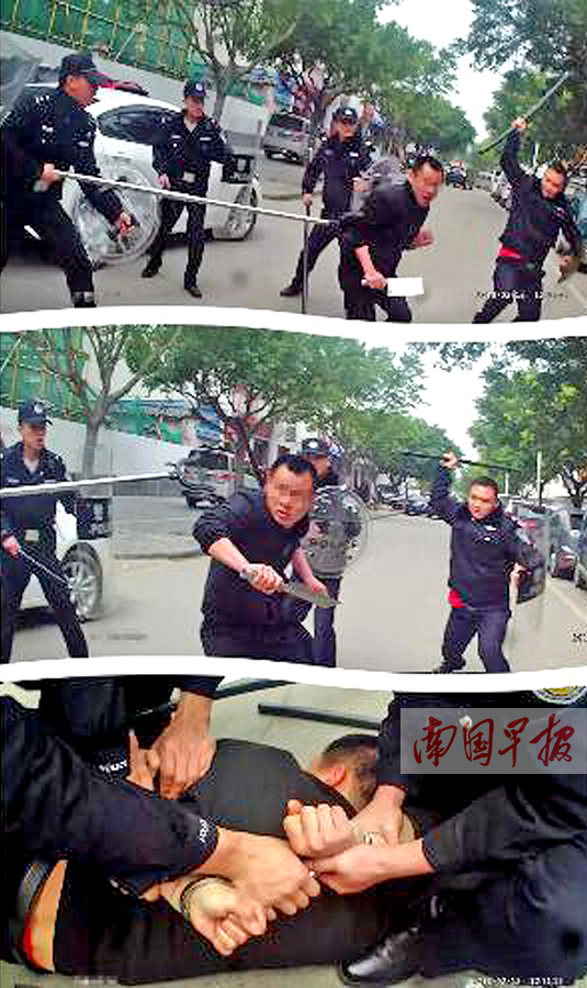 恭城男子持刀行凶民警开枪制服 嫌疑人无生命危险