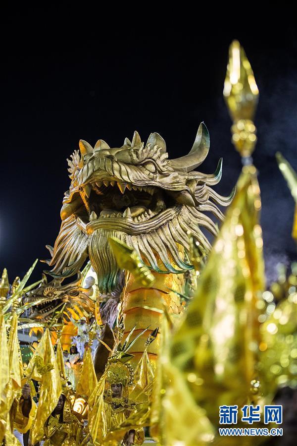 (新华全媒头条・图文互动)(4)当桑巴爱上中国红 巴西狂欢节致敬中国年