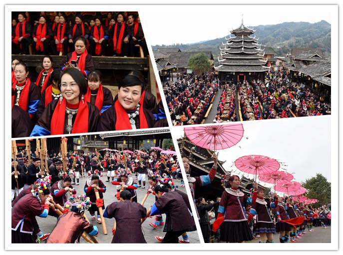 广西三江:数百姐妹集中回娘家团聚闹新春(组图)