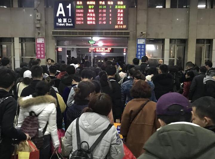 桂林:春运迎来返程高峰