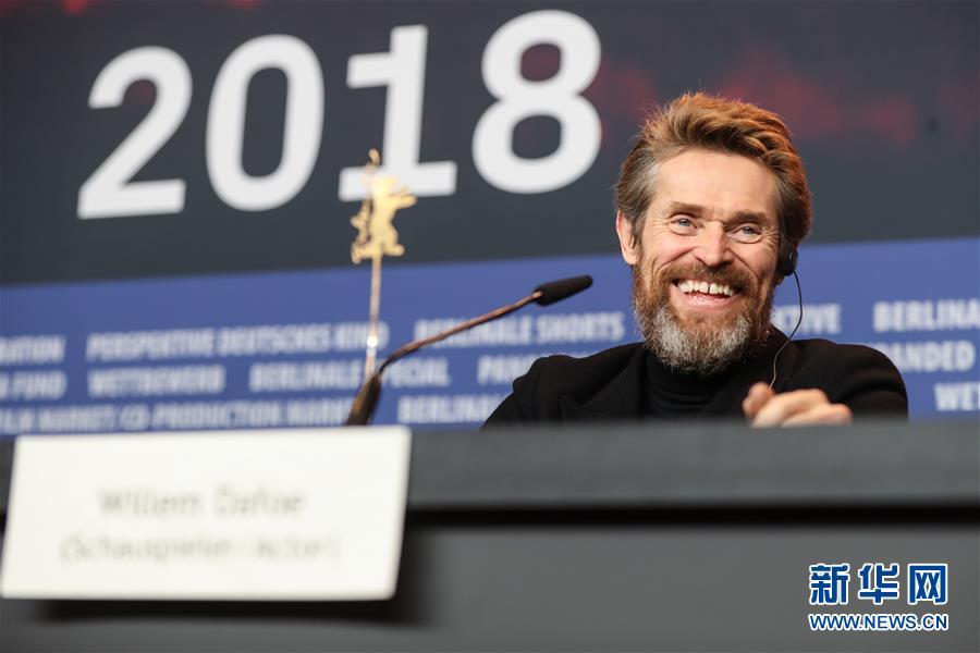 美国演员威廉・达福获第68届柏林电影节终身成就奖