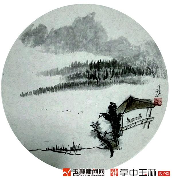 李焕庭国画写意山水印象