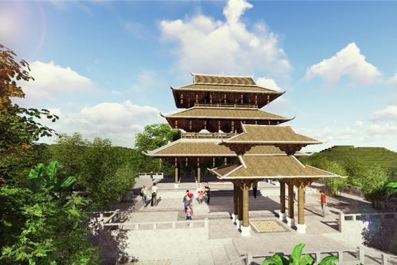 第十二届园博会广西园开建 民族元素彰显文化特色