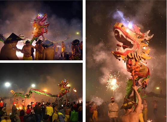 高清:广西宾阳百龙舞动贺新岁 万人狂欢炮龙节