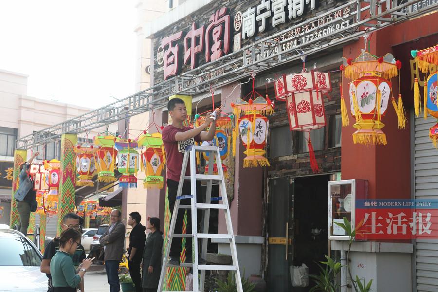 今年南宁市菠萝岭元宵花灯会规模更大 花灯更美