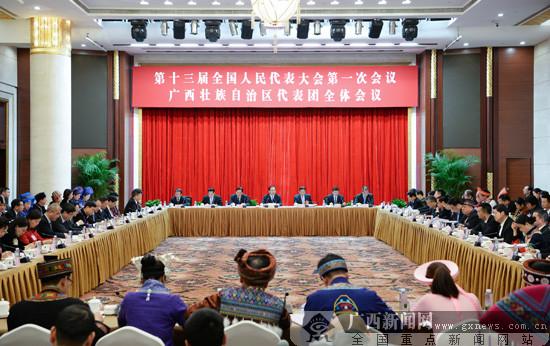 广西代表团审议当局任务陈诉