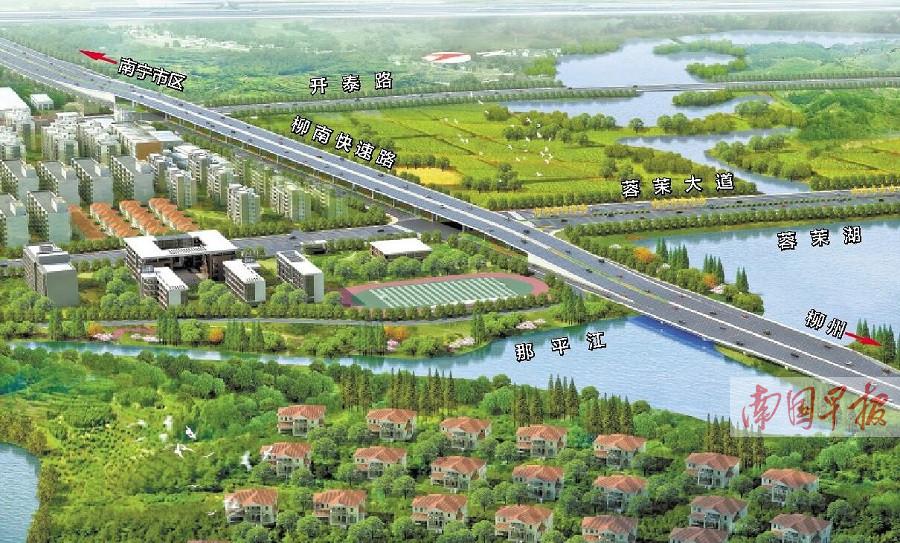 3月16日焦点图:南宁三岸到那容立交或9月建成通车