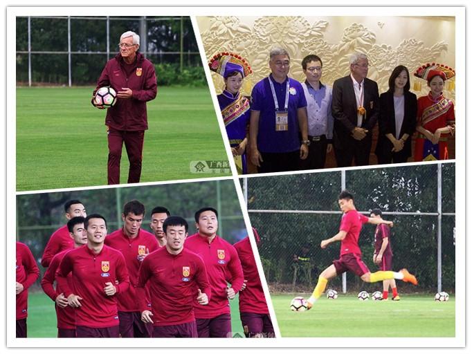 """高清:""""中国杯""""大战一触即发 三支队伍率先抵邕"""