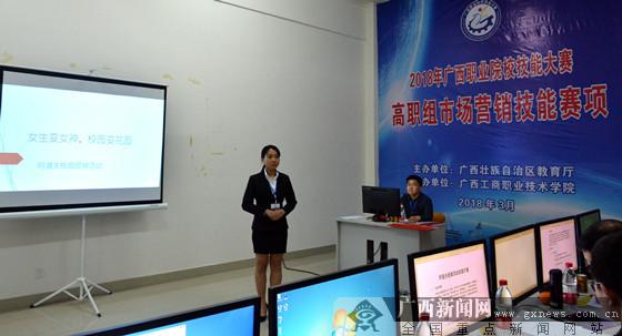 广西职业院校技能大赛高职组市场营销技能赛项开赛