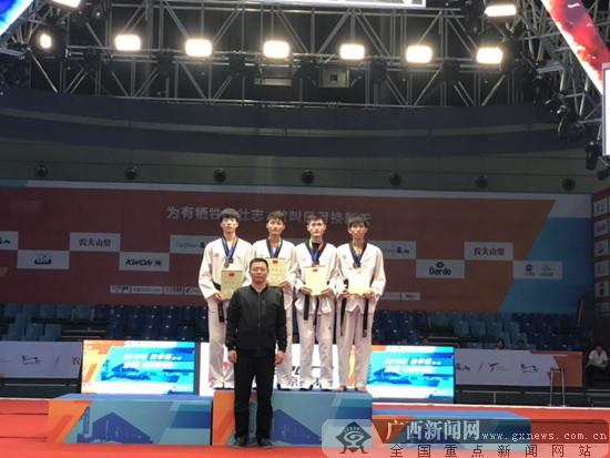 广西男子跆拳道队员王建昌勇收获全国冠军