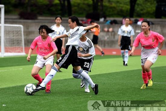 桂林市初中生七人制足球赛战罢