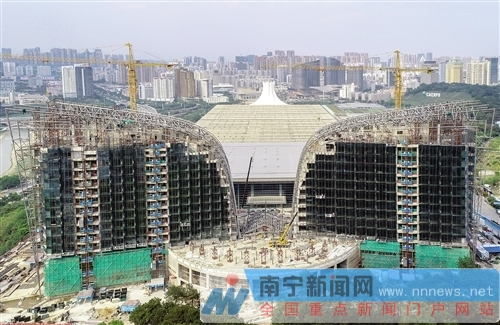 南宁国际会展中心改扩建工程配套设施将于8月竣工