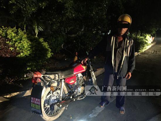 惊!男子酒后驾驶无牌摩托车在高速上逆行(图)