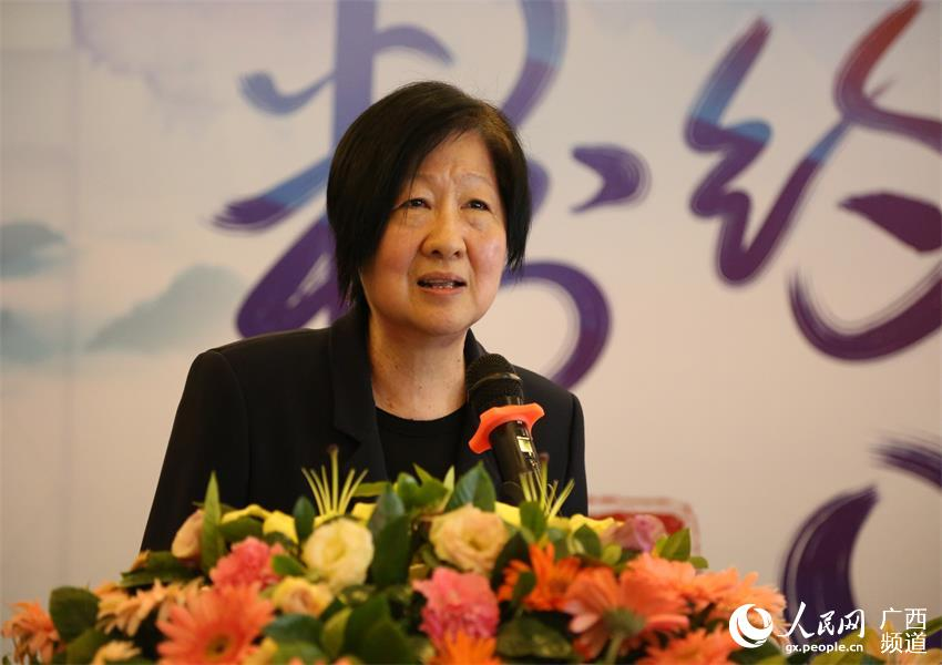 桂林乐满地度假世界董事长徐元亨在新闻发布会上致辞