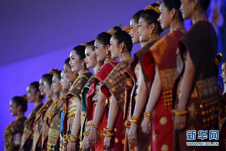 """(国际)(2)老挝琅勃拉邦举行""""2018宋干小姐""""评选"""