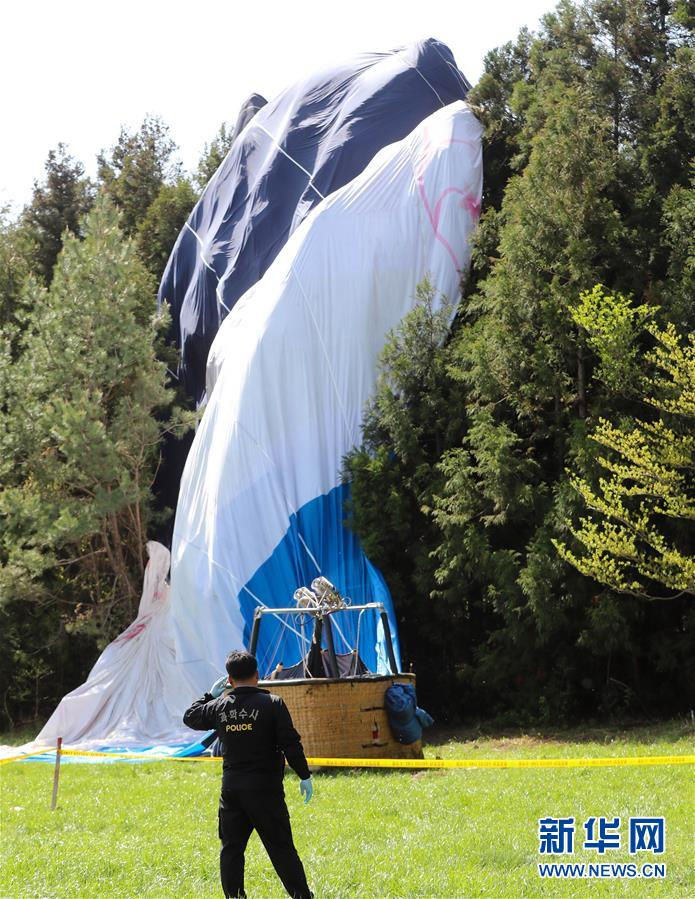 (国际)(2)韩国济州热气球坠落1死12伤